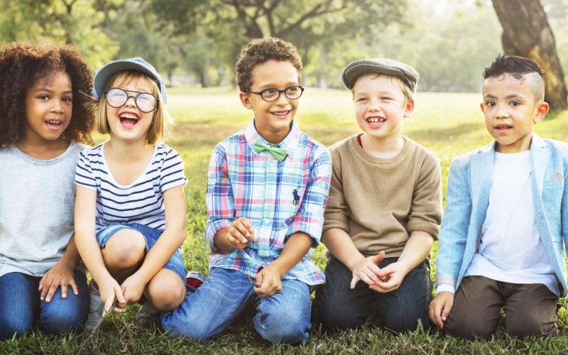 Freindship Trendy Playful Leisure Children Kids Concept