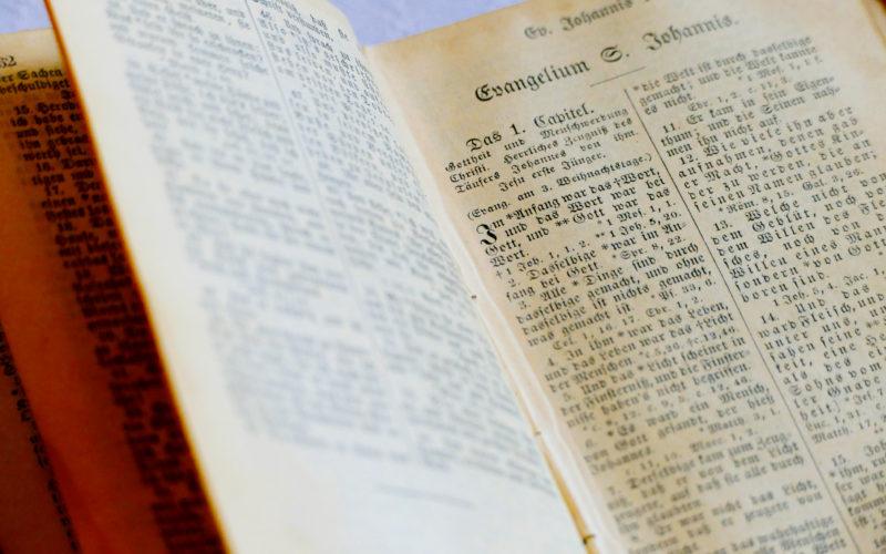 Bibel Am Anfang War Das Wort